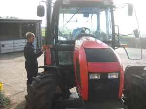 Zach and the tractor